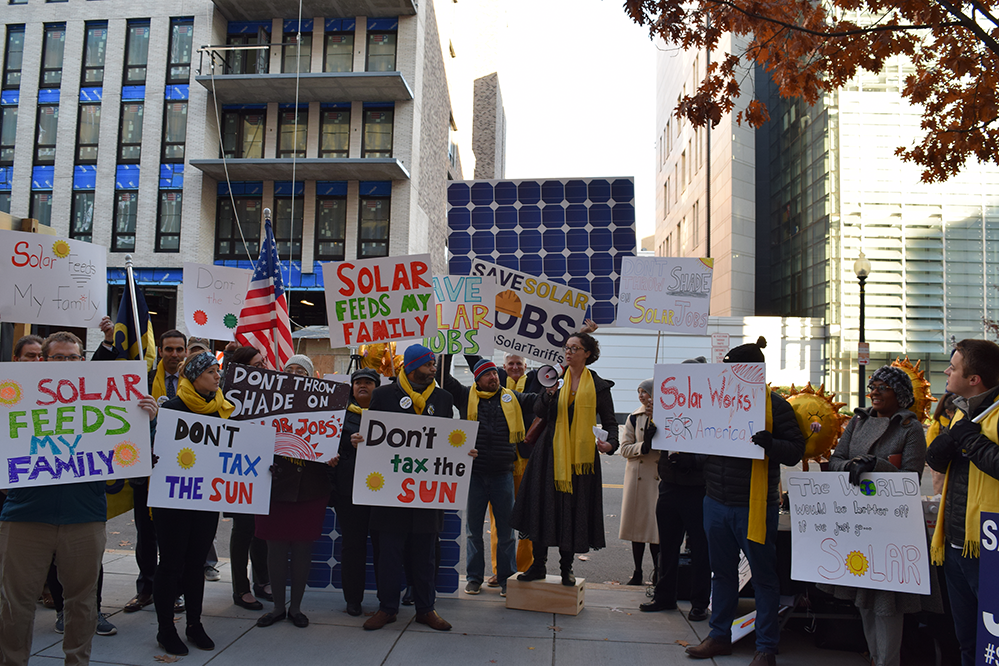 the rally to stop solar tariffs