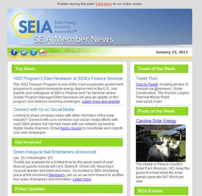SEIA Member News preview