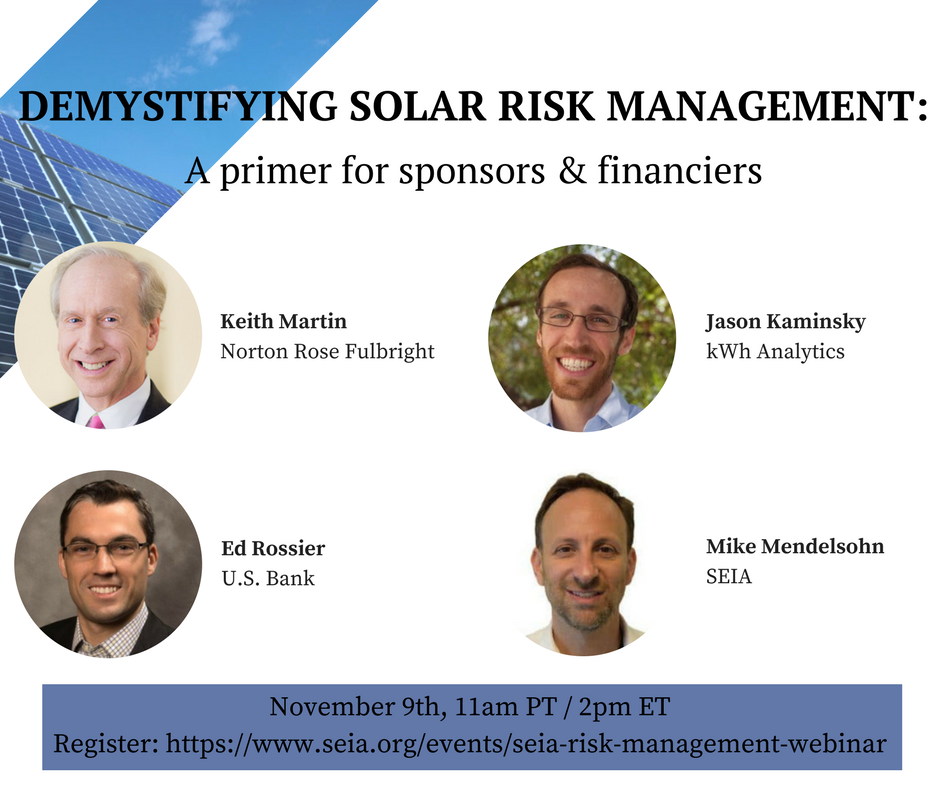 Demystifying Solar Risk Management: a Primer for Sponsors and Financiers