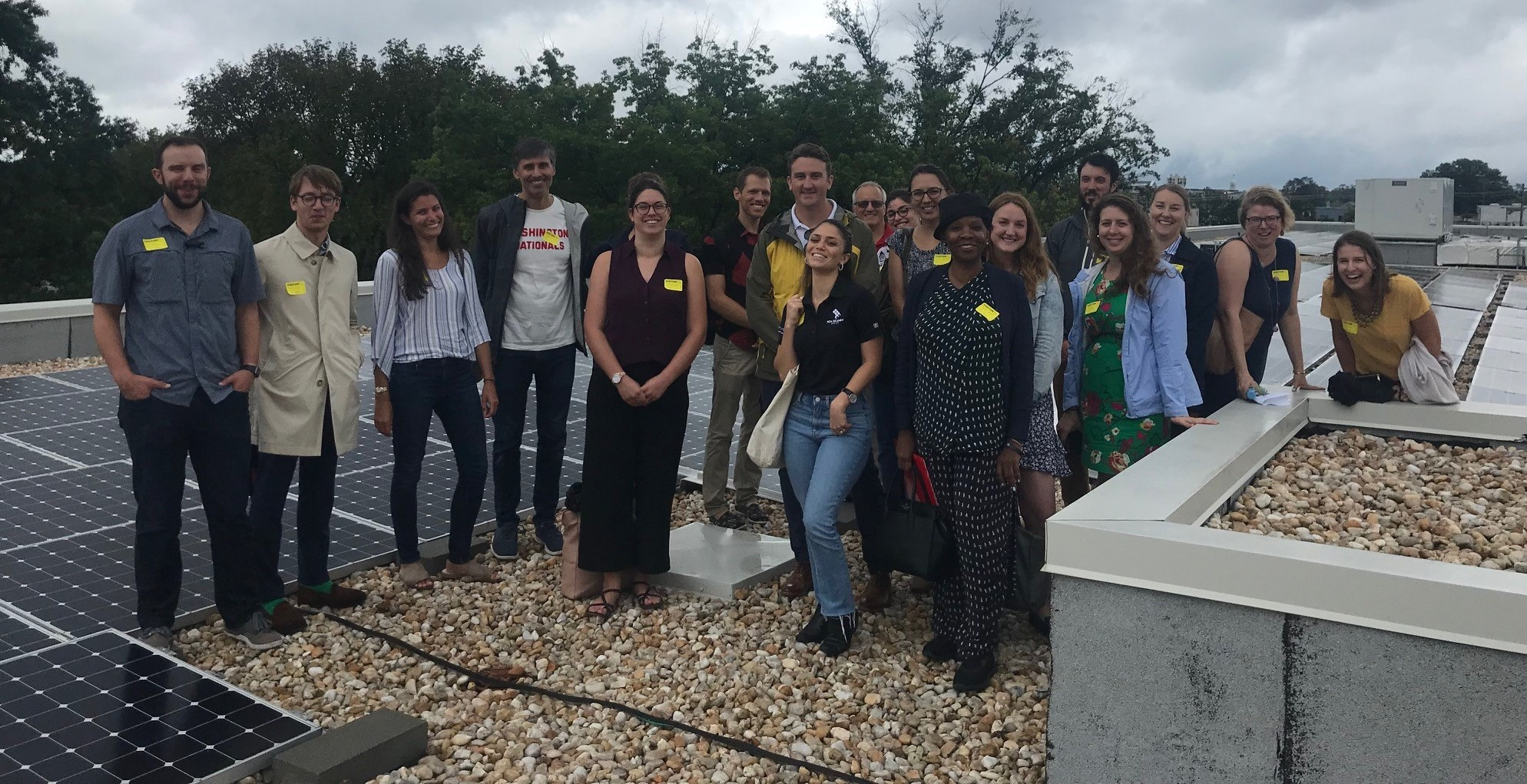 Hill Staffers visit rooftop solar array on Capital City Public Charter School
