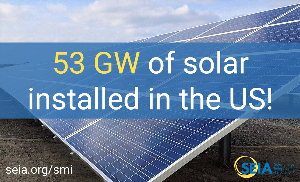 53 GW of solar installed in the US!