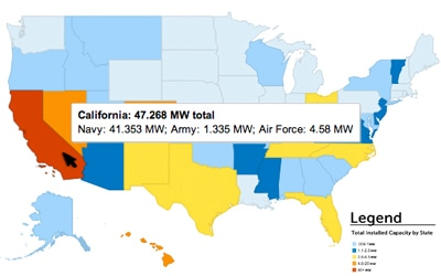 Solar Works for the Military: Installations Map | SEIA