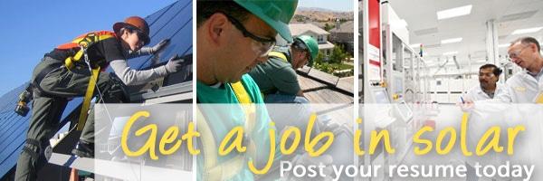 get a solar job